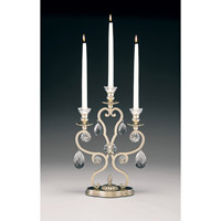 Schonbek Renaissance 3 Light Candelabra in Heirloom Silver and Clear Heritage Handcut Trim 71213-44