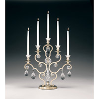 Schonbek Renaissance 5 Light Candelabra in Heirloom Silver and Clear Heritage Handcut Trim 71215-44