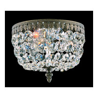 Schonbek Rialto 3 Light Ceiling Fixture in Bronze Umber and Swarovski Crystal 5038-75A