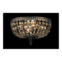Schonbek Rialto 4 Light Flush Mount in Heirloom Bronze and Golden Teak Swarovski Elements Colors Trim 5040-76TK