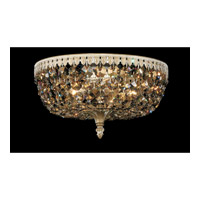 Schonbek Rialto 5 Light Ceiling Fixture in Parchment Gold and Strass Tk Crystal 5042-27TK