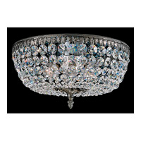 Schonbek Rialto 6 Light Ceiling Fixture in Black Pearl and Swarovski Crystal 5044-49A