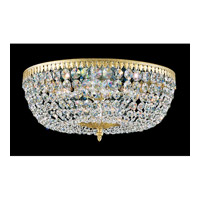 Schonbek Rialto 8 Light Flush Mount in Heirloom Gold and Clear Spectra Crystal Trim 5048-22A