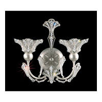 Schonbek Rivendell 2 Light Wall Sconce in Antique Silver and Crystal Swarovski Elements Trim 7855-48S