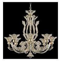 Schonbek Rivendell 8 Light Chandelier in Heirloom Silver and Crystal Swarovski Elements Trim 7863-44S
