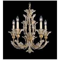 Schonbek Rivendell 5 Light Chandelier in Heirloom Gold and Crystal Swarovski Elements Trim 7865-22S