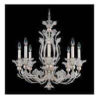 Schonbek Rivendell 8 Light Chandelier in Antique Silver and Crystal Swarovski Elements Trim 7866-48S