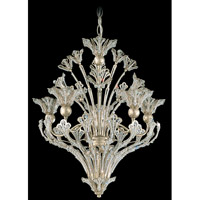 Schonbek Rivendell 8 Light Chandelier in Heirloom Silver and Crystal Swarovski Elements Trim 7882-44S
