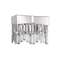 Schonbek Riviera 2 Light Wall Sconce in Stainless Steel and Clear Spectra Crystal Trim RF2402N-401A