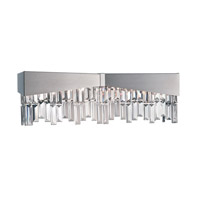 Schonbek Riviera 4 Light Wall Sconce in Brushed Stainless Steel and Clear Spectra Crystal Trim RF2404N-16A