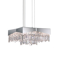 Riviera 8 Light 18 inch Brushed Stainless Steel Pendant Ceiling Light in Clear Swarovski