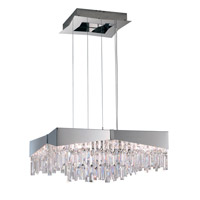 Riviera 8 Light 24 inch Stainless Steel Pendant Ceiling Light in Clear Swarovski