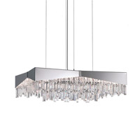 Riviera 8 Light 32 inch Brushed Stainless Steel Pendant Ceiling Light in Clear Spectra