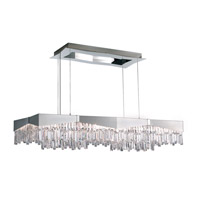 Riviera 16 Light 48 inch Brushed Stainless Steel Pendant Ceiling Light in Clear Spectra
