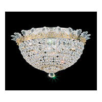 Schonbek Roman Empire 6 Light Flush Mount in Polished Gold and Clear Spectra Crystal Trim 3702-20A