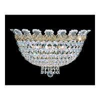 Roman Empire 3 Light 7 inch Polished Gold Wall Sconce Wall Light in Clear Spectra Crystal