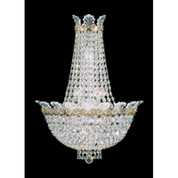 Roman Empire 6 Light 7 inch Polished Gold Wall Sconce Wall Light in Clear Spectra Crystal