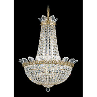 Schonbek Roman Empire 10 Light Chandelier in Heirloom Gold and Clear Spectra Crystal Trim 3714-22A
