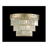 Schonbek Romanoff 3 Light Wall Sconce in Heirloom Silver and Clear Heritage Handcut (H) Trim 5711-44