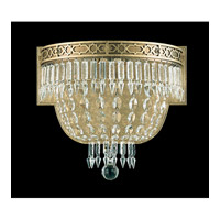 Schonbek Romanoff 3 Light Wall Sconce in Heirloom Bronze and Clear Heritage Handcut (H) Trim 5712-76