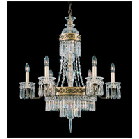 Schonbek Romanoff 8 Light Chandelier in Heirloom Bronze and Clear Heritage Handcut (H) Trim 5715-76
