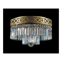 Schonbek Romanoff 4 Light Flush Mount in Heirloom Bronze and Clear Heritage Handcut (H) Trim 5723-76