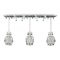 Schonbek Rondelle 3 Light Pendant in Antique Silver and Black Diamond Vintage Crystal Trim 1258-48BD
