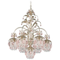 Schonbek Rondelle 7 Light Chandelier in Silvergild and Pink Vintage Crystal Trim 1267-91PK photo thumbnail