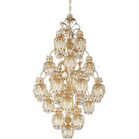 Schonbek Rondelle 25 Light Chandelier in French Gold and Topaz Vintage Crystal Trim 1275-26TO