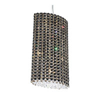 Schonbek Refrax 6 Light Pendant in Stainless Steel and Jaguar Swarovski Elements Trim RE1018JAG