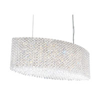 Schonbek Refrax 17 Light Pendant in Stainless Steel and Aqua Swarovski Elements Trim RE2809AQU