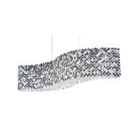 Schonbek Refrax 13 Light Pendant in Stainless Steel and Azurite Swarovski Elements Trim RE3214AZU