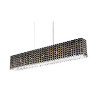 Schonbek Refrax 11 Light Pendant in Stainless Steel and Jaguar Swarovski Elements Trim RE3606JAG