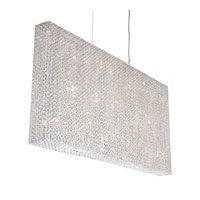 Schonbek Refrax 23 Light Pendant in Stainless Steel and Aqua Swarovski Elements Trim RE4824AQU