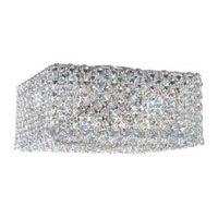 Schonbek Refrax 4 Light Flush Mount in Stainless Steel and Azurite Swarovski Elements Trim REC1005AZU