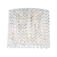 Schonbek Refrax 5 Light Wall Sconce in Stainless Steel and Alabaster Swarovski Elements Trim REW1009ALA