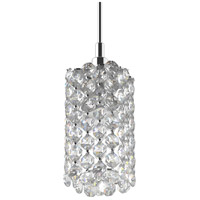 Schonbek RE0205A Refrax 1 Light 2 inch Stainless Steel Pendant Ceiling Light in Spectra Geometrix Canopy Sold Separately
