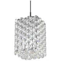 Schonbek RE0405A Refrax 1 Light 4 inch Stainless Steel Pendant Ceiling Light in Spectra Geometrix Canopy Sold Separately
