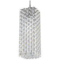 Schonbek RE0409A Refrax 1 Light 4 inch Stainless Steel Pendant Ceiling Light in Spectra Geometrix Canopy Sold Separately