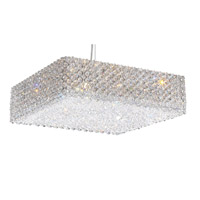 Refrax 13 Light 17 inch Stainless Steel Pendant Ceiling Light in Clear Spectra, Geometrix,Canopy Sold Separately