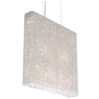 Refrax 11 Light 25 inch Stainless Steel Pendant Ceiling Light in Clear Swarovski, Geometrix,Canopy Sold Separately