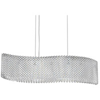 Refrax 13 Light 32 inch Stainless Steel Pendant Ceiling Light in Clear Swarovski, Geometrix,Canopy Sold Separately