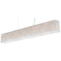 Refrax 15 Light 49 inch Stainless Steel Pendant Ceiling Light in Clear Swarovski, Geometrix,Canopy Sold Separately