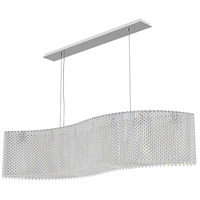 Schonbek RE4821A Refrax 21 Light 48 inch Stainless Steel Pendant Ceiling Light in Spectra Geometrix