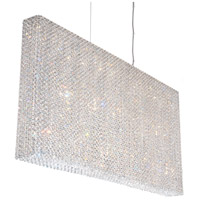 Schonbek RE4824A Refrax 23 Light 49 inch Stainless Steel Pendant Ceiling Light in Clear Spectra, Geometrix,Canopy Sold Separately