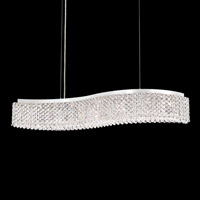 Schonbek REL33130N-SS1A Refrax LED 33 inch Stainless Steel Island Light Ceiling Light in Spectra
