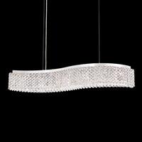 Schonbek REL33131N-SS1S Refrax LED 33 inch Stainless Steel Island Light Ceiling Light in Swarovski