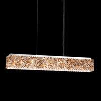 Schonbek REL36051N-SS1OCE Refrax LED 37 inch Stainless Steel Island Light Ceiling Light in Refrax Ocelot