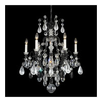 Schonbek Renaissance Rock 7 Light Chandelier in Wet Black and Jet Black Rock Crystal Colors Trim 3570-55BK