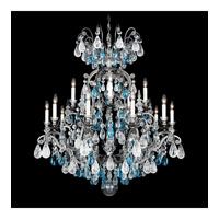 Schonbek Renaissance Rock 16 Light Chandelier in Antique Pewter and Amethyst & Black Diamond Rock Crystal Colors Trim 3573-47AD